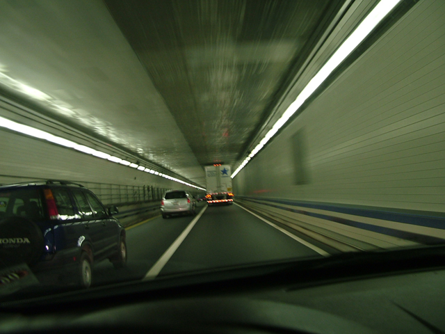 On the Road in a Virginia Tunnel