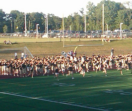 Walled Lake Northern Marching Band 1st pre-show 2010