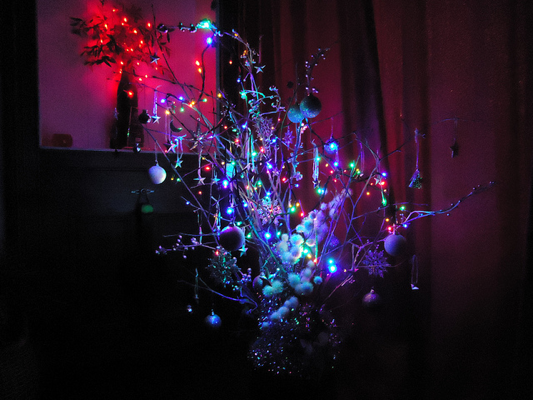 funky homemade christmas tree By brockvicky on Flickr