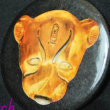 King Tut Gold Leopard Mask button