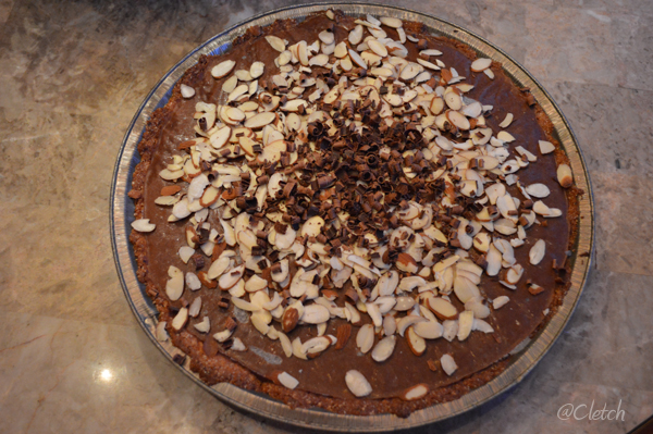 Gluten Free chocolate banana pie