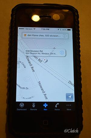 Onstar-app-map