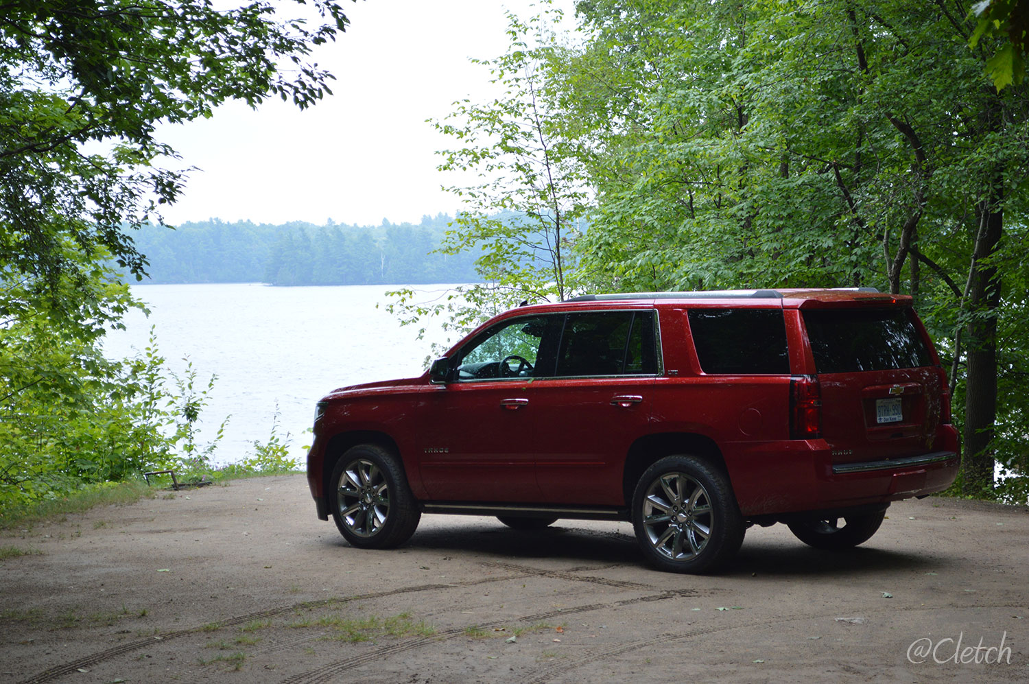 The Tahoe with Lake Opinicon in behind