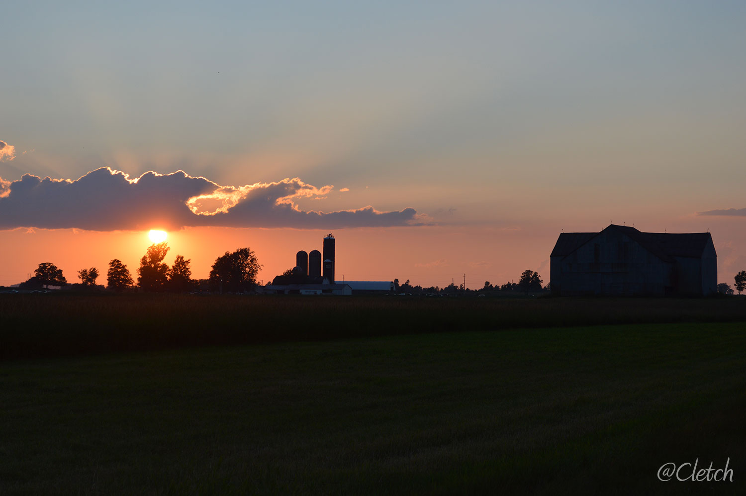 Sunset near the Simpson homestead