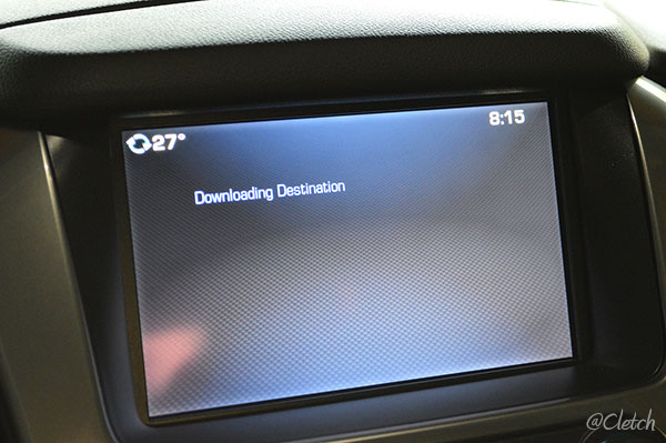 Downloading Destination Directions from OnStar