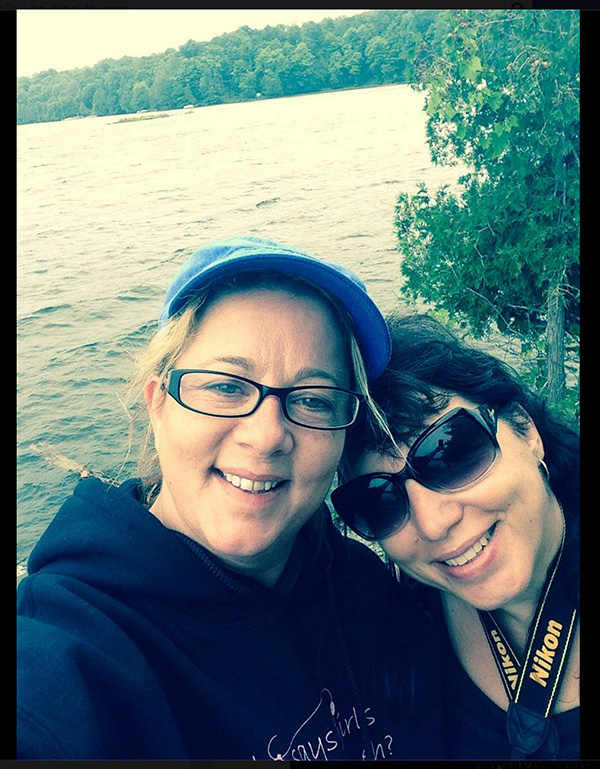 Judi & I while camping