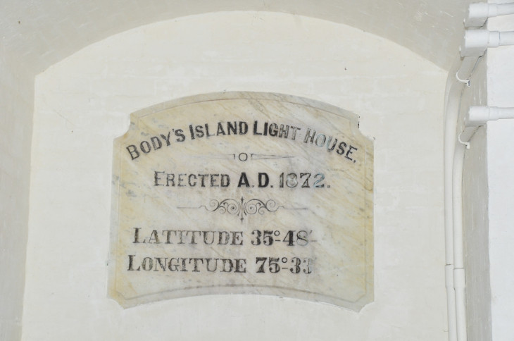 Body's Island Lighthouse Plaque