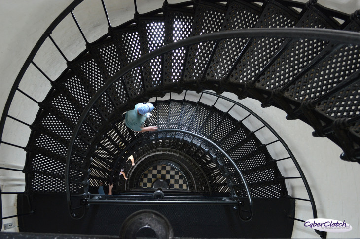 Cast Iron stairs Bodie Lighthouse