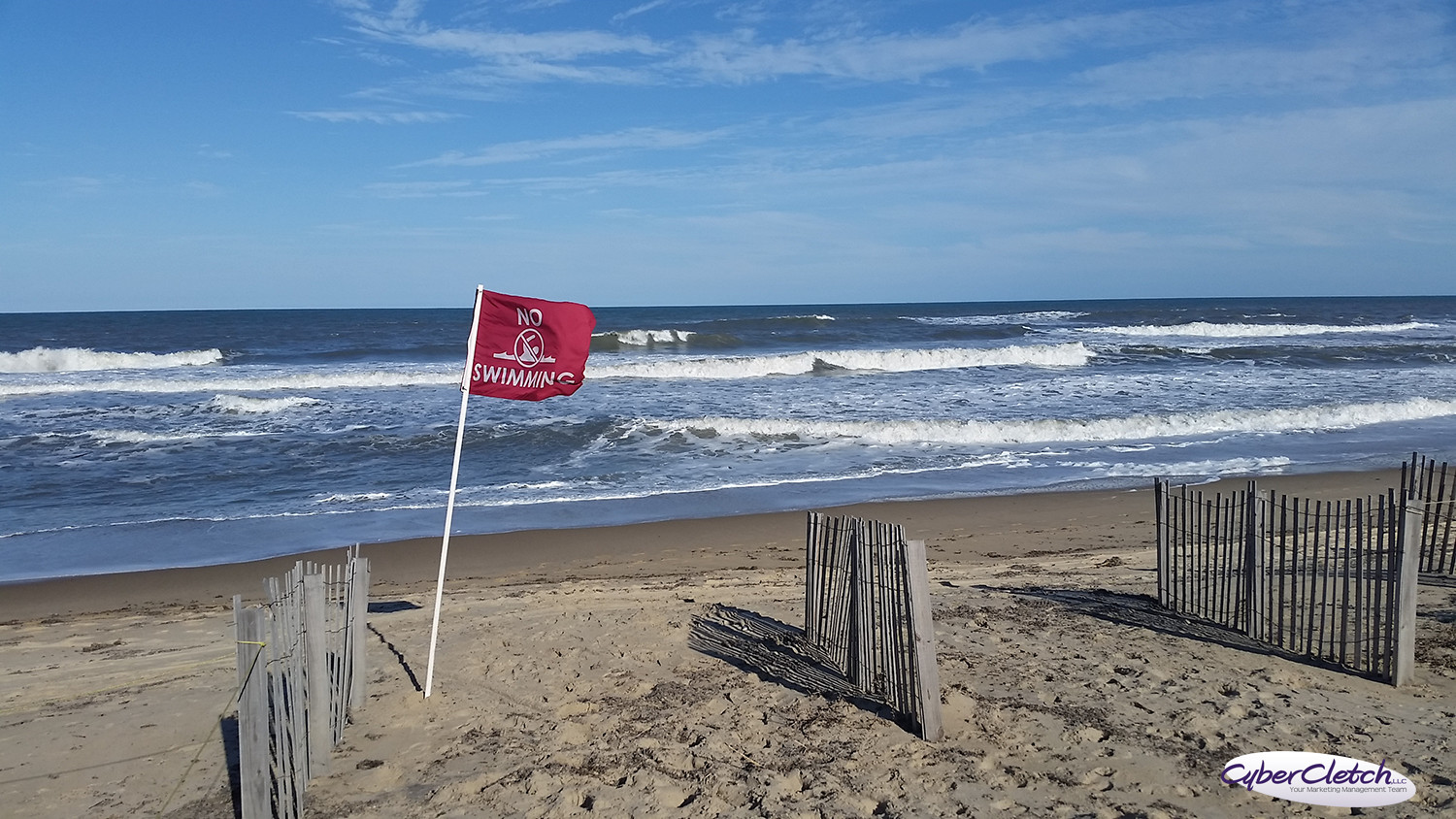 No Swimming Flags