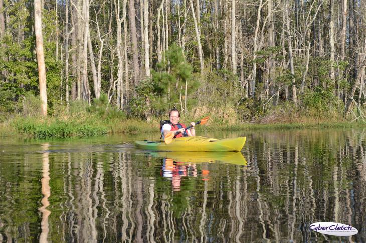 James kayak reflection
