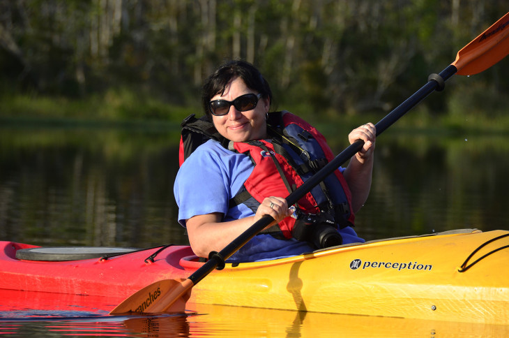 Pat kayaking