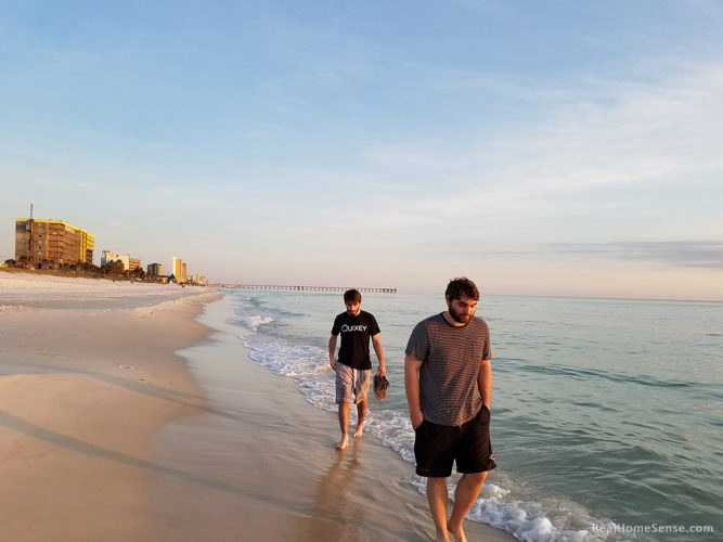 Brett and Cayce at Panama City Beach