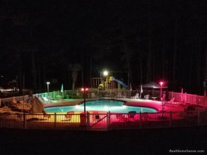 Raccoon River Campground Pool at Night