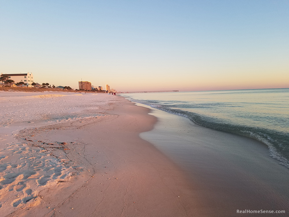 Panama City Beach in golden light