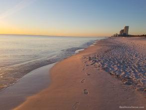 Panama City Beach at sunset