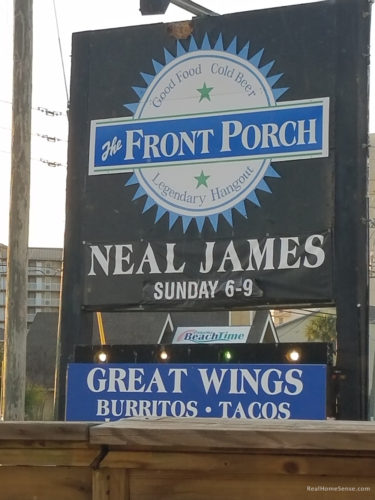 The Front Porch sign in Panama City Beach