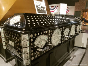National Museum of Funeral History Money Casket