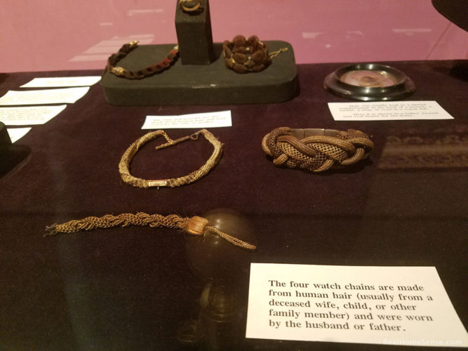 National Museum of Funeral History Human Hair Memorial Jewelry