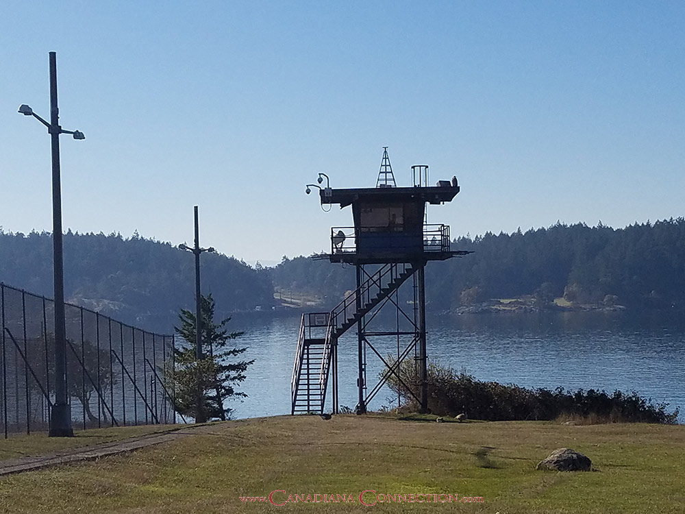 William Head Institution Guard Tower on Vancouver Island BC