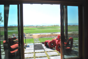 View from sliding doors