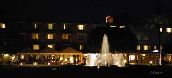 Arizona Biltmore at night