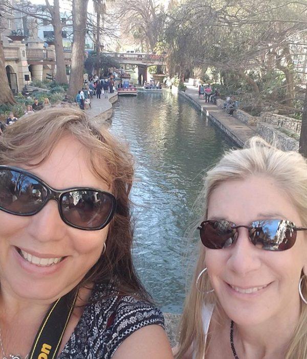 Naomi & I at the River Walk in San Antonio