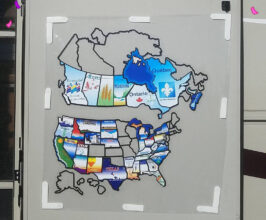 RV Map of visited states and provinces