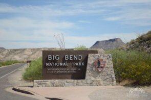 Big Bend National Park sign at entrance